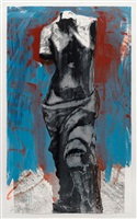 red, white and blue venus for mondale by jim dine