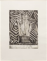 savarin 5 (corpse and mirror) by jasper johns