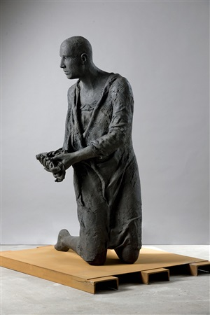 connected – disconnected, bronze #99 by hanneke beaumont