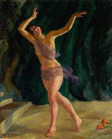 grace emerson, dancer by john french sloan