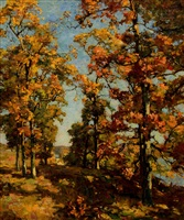 a view to the river, autumn by charles harold davis