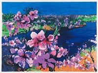 peach blossoms by zhou chunya