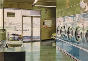 laundry interior by ralph goings