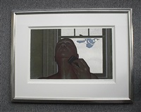 artist & blue jay by david alexander colville