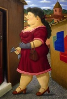 on a stroll by fernando botero