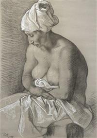 mujer con turbante by francisco zúñiga