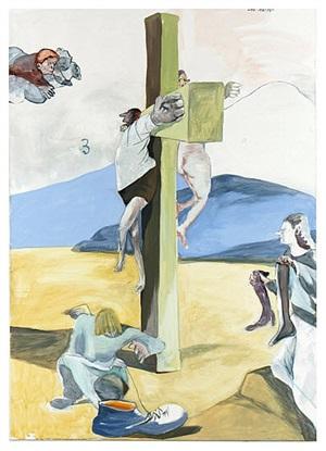 faust am kreuz (quo vadis) by siegfried anzinger