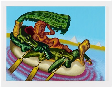 peter saul neptune and the octopus painter by peter saul