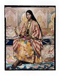 harem revisited no.38 by lalla essaydi