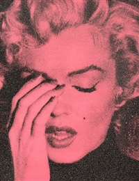 crying marilyn (french rose) by russell young
