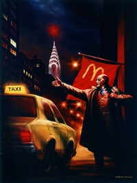lenin hails a cab by komar and melamid