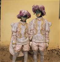 two in fancy dress, red cross masquerade group, winneba, ghana by phyllis galembo