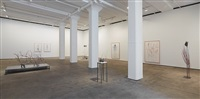 installation view of the vertebrae oracle at sean kelly, new york by rebecca horn