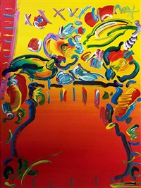 vase of flowers series by peter max