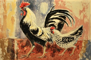rooster and hen by otis dozier