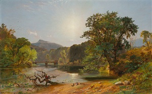 in the white mountains by jasper francis cropsey