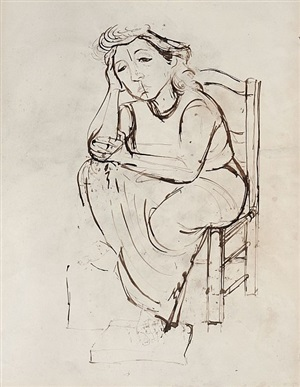 lady seated by jankel adler