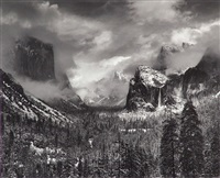 clearing winter storm, yosemite national park by ansel adams
