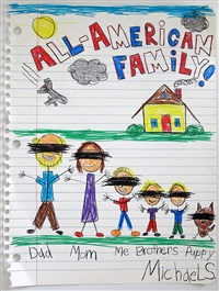 all american family xxiv (redacted drone) by michael scoggins