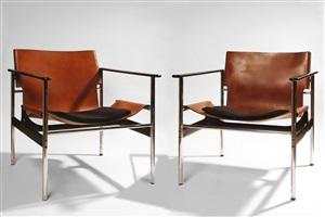 paire de fauteuils by charles pollock