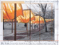 the gates. project for central park, new york city by christo and jeanne-claude