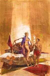 john carter of mars no. 4, thuvia, maid of mars (study) by robert kennedy abbett