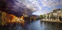 day to night, pont de la tournelle, paris by stephen wilkes