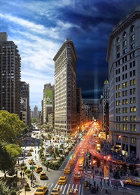 day to night, flatiron, nyc by stephen wilkes