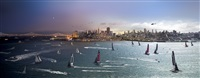 day to night, america's cup, sf by stephen wilkes