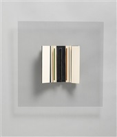 transparent relief construction (white, black, green & maroon) by victor pasmore