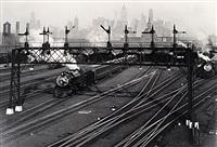 hoboken railroad yards, new jersey by berenice abbott