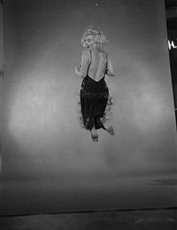 marilyn monroe (test print for 'jump' book) by philippe halsman