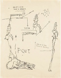 leg of a dog by jean-michel basquiat