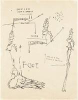 leg of a dog by jean-michel basquiat