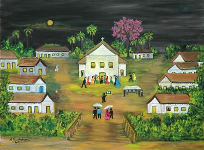 igreja em festa / feast at the church by maria guadalupe