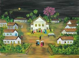 igreja em festa / feast at the church by maria guadalupe