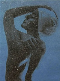 shower profile - blue by carole a. feuerman