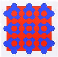 constellation (blue/red) by victor vasarely