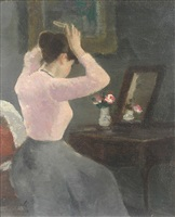 at the dressing table by françois gall