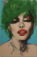 face with green hair by joanne corno