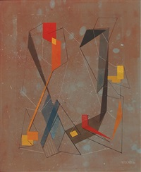untitled abstraction (rust) by albert patecky