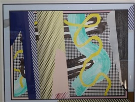 reflections on brushstroke by roy lichtenstein