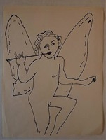 untitled angel by andy warhol