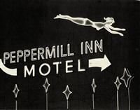 motel sign, highway 395, reno, nevada by steve fitch