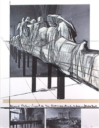 aegena temple - project for the munich glyptotek by christo and jeanne-claude