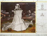 wrapped fountain by christo and jeanne-claude