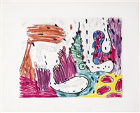 seven places #2 (suite of 7) by carroll dunham