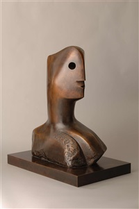 head (sold) by henry moore