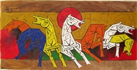 seven horses by maqbool fida husain