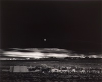 moonrise over hernandez, new mexico by ansel adams